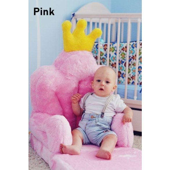 Rózsaszín Trón babafotel fotelágy