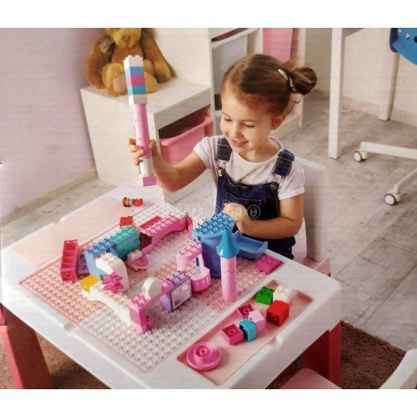 Tega Baby Multifun készségfejlesztő asztal székkel, rózsaszín