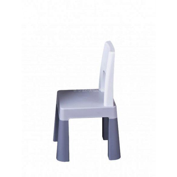 Készségfejlesztő gyerekasztal székkel - szürke
