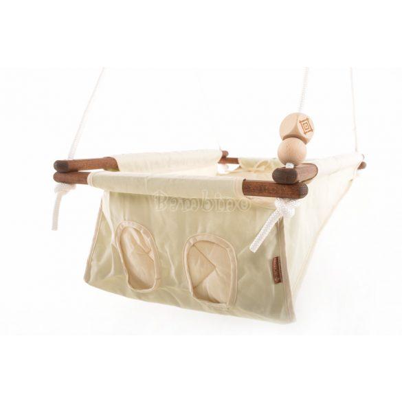 Incababy babahinta - Cream (sötétbarna fával)