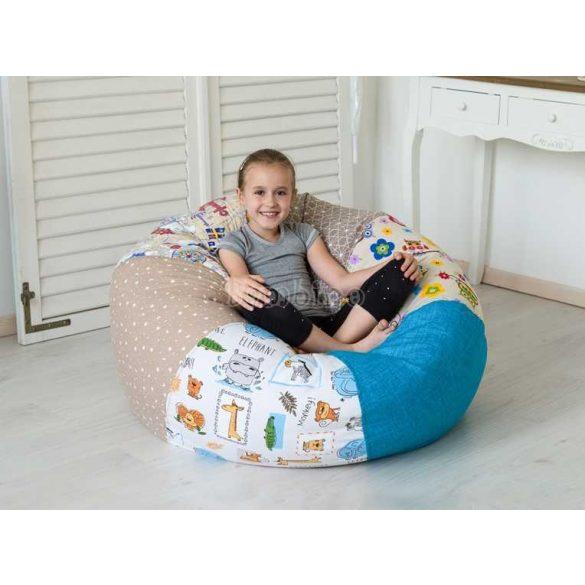 Kényelmes gyerek babzsákfotel - kék (több színminta)