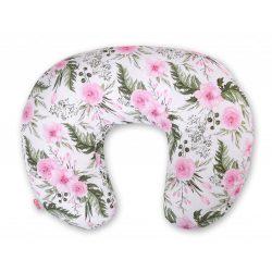BabyLion Luxus etető párna - Rózsaszín virágok
