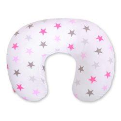 BabyLion Luxus etető párna - Rózsaszín nagy csillagok
