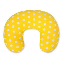 BabyLion Luxus etető párna - Sárga - fehér pöttyökkel