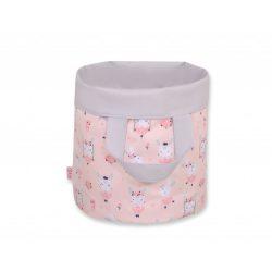 BabyLion kifordítható játéktároló M méret - Szürke - Balerina nyuszik