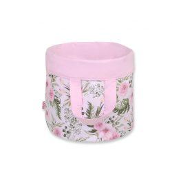 BabyLion kifordítható játéktároló M méret - Rózsaszín virágok