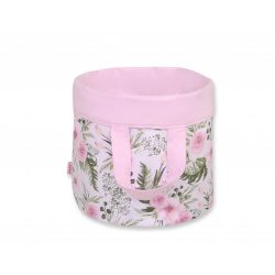 BabyLion kifordítható játéktároló L méret - Rózsaszín virágok