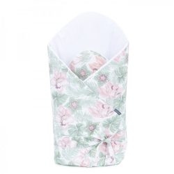 MTT Merevített pólya - Mályva virágok Zöld levelekkel