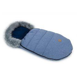 MTT LUX bundazsák - Farmer kék - szürke szőrmével