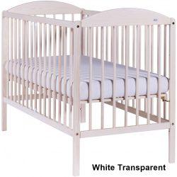 Drewex Kuba II Standard kiságy babaágy 60x120 - White Transparent