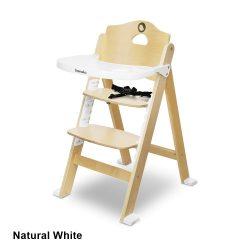 Lionelo Floris fa lépcsős etetőszék - Natural White