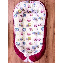 Babylion kifordítható babafészek - Rózsaszín - Baglyok