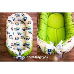 Babylion kifordítható babafészek - zöld-baglyok