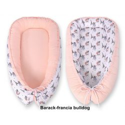 BabyLion kifordítható babafészek - Barack-francia bulldog