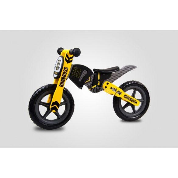 Sun Baby RunCross fa futóbicikli - fekete-sárga