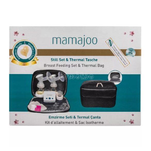 Mamajoo elektromos dupla mellszívó táskával + Mamajoo BPA mentes cumisüveg