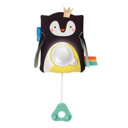 Taf Toys Prince pingvin zenélő éjszakai fény hangérzékelővel