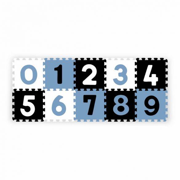 BabyOno habtapi puzzle számos játszószőnyeg - kék