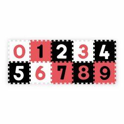 BabyOno habtapi puzzle számos játszószőnyeg - piros