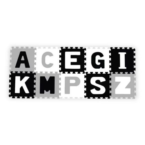 BabyOno habtapi puzzle játszószőnyeg - szürke betűk