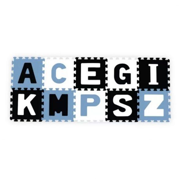 BabyOno habtapi puzzle játszószőnyeg - kék betűk