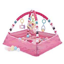Kikkaboo játszószőnyeg 18 labdával - rózsaszín madaras