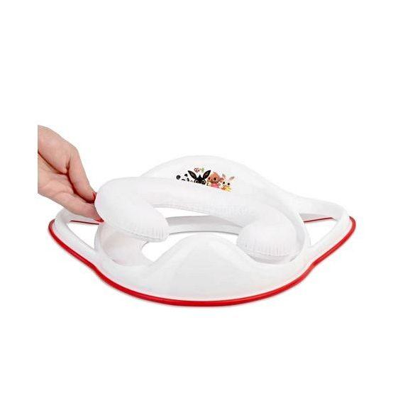 Maltex Bing nyuszi kapaszkodós puha wc szűkítő fehér/piros
