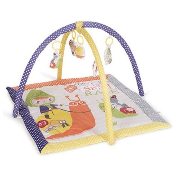 Kikkaboo játszószőnyeg - Snail Race lila- sárga