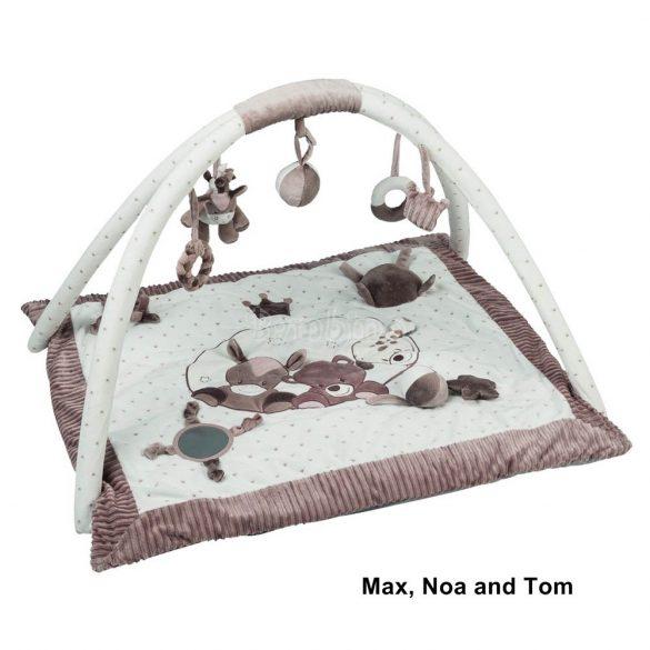 Nattou plüss játszószőnyeg - Max, Noa and Tom
