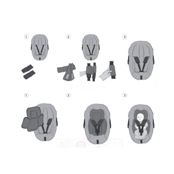 Clevamama ülésbetét 2 db biztonsági öv védővel (több színben)