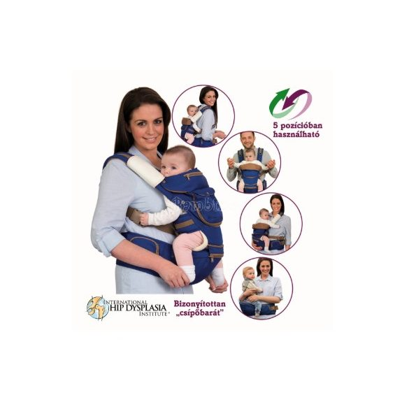 Clevamama 5 funkciós ergonomikus kenguru és hátihordozó (több színben)