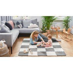 Kinderkraft Luno szivacspuzzle szőnyeg 30 db fekete-fehér