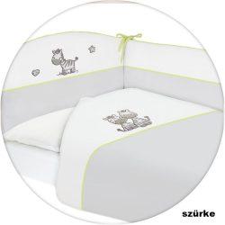 Ceba Zebrás hímzett ágynemű huzat rácsvédővel