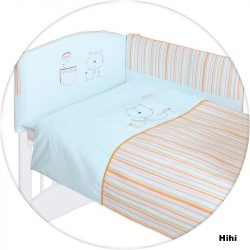 Ceba színes hímzett ágynemű huzat rácsvédővel