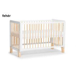 Kinderkraft Lunky fa kiságy - fehér