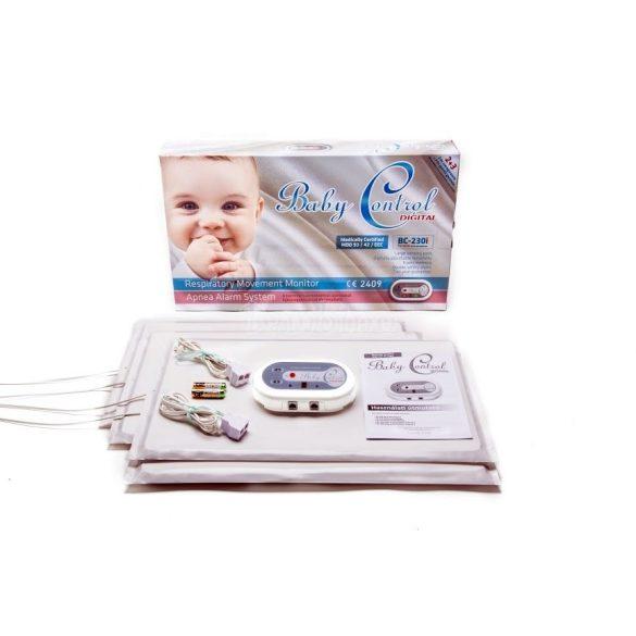 Baby Control BC230i légzésfigyelő ikreknek, 4 érzékelőlappal