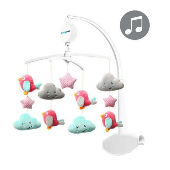 BabyOno forgó-zenélő utazóágyra és fa kiságyra - felhők - madarak