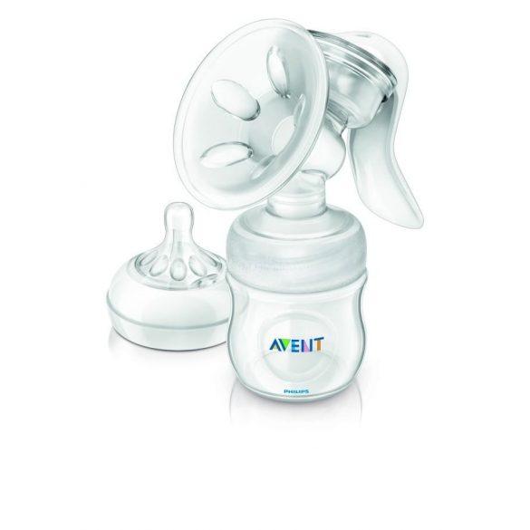 Philips Avent natural kézi mellszívó natural cumisüveggel