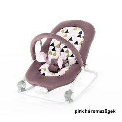 Zopa Relax rezgő zenélő pihenőszék és babafotel 2in1 Pink