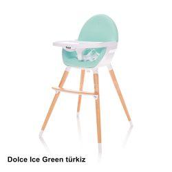 Zopa Dolce etetőszék fa lábbal - Ice Green türkizzöld