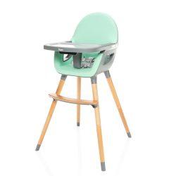 Zopa Dolce etetőszék fa lábbal - Ice Green türkizzöld/szürke