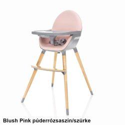 Zopa Dolce etetőszék fa lábbal - Blush Pink púderrózsaszín/szürke