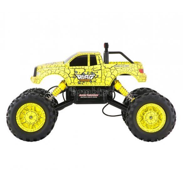 Buddy Toys távirányítós sziklamászó autó - sárga