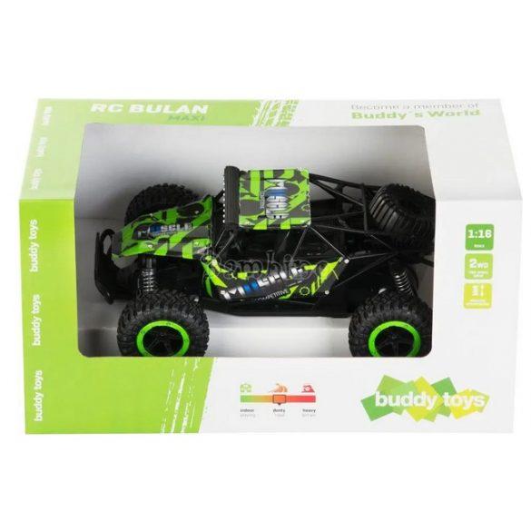 Buddy Toys Bulan távirányítós autó-fekete, zöld