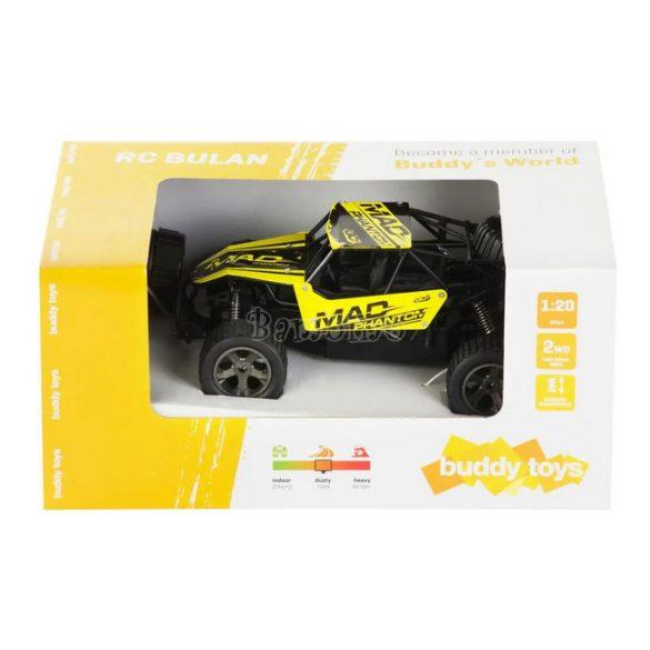 Buddy Toys Bulan távirányítós autó-fekete, sárga