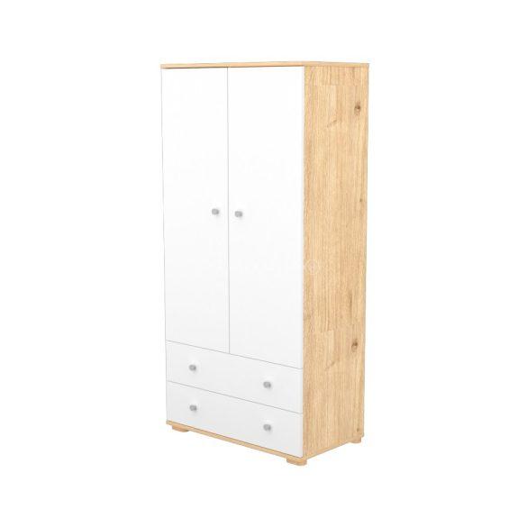 Timba Fanni mandula-fehér 2 ajtós 2 fiókos álló szekrény