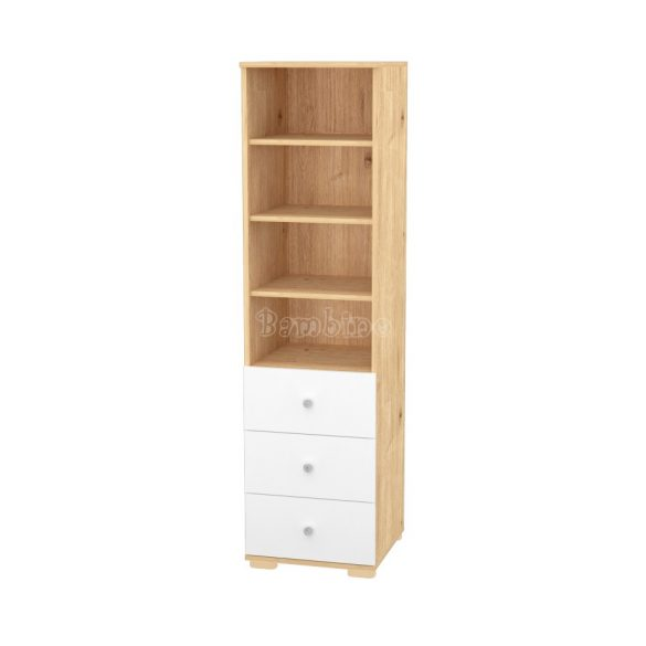 Timba Fanni mandula-fehér 3 fiókos nyitott szekrény