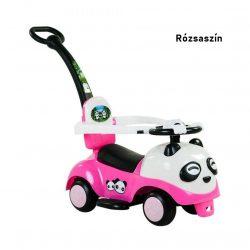 Panda bébitaxi szülőkormánnyal - rózsaszín