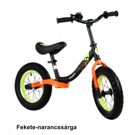 Babybike futóbcikli csengővel, fekete-neonsárga