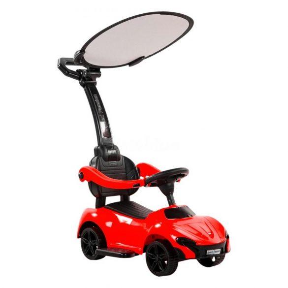 Autós bébitaxi napfénytetővel - piros